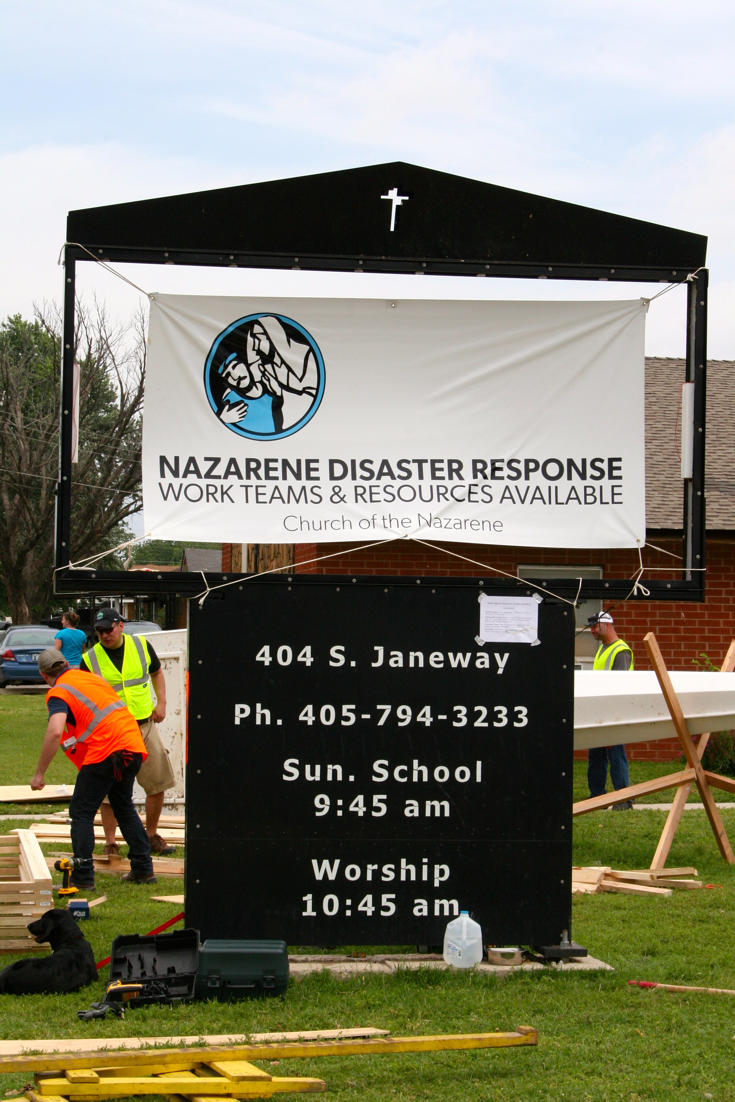 Moore Nazarene Reliefe work